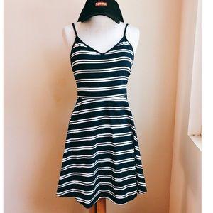 So Brand Stripe Skater Jersey Dress